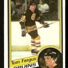 BOSTON BRUINS TOM FERGUS 1984 O PEE CHEE OPC # 4 VG