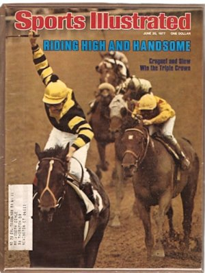SEATTLE SLEW WINS TRIPLE CROWN 6/77 SI ROGER MARIS MINNESOTA TWINS AAU EDWIN MOSES PGA TOMMY BOLT