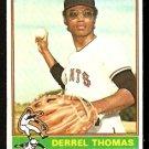 SAN FRANCISCO GIANTS DERREL THOMAS 1976 TOPPS # 493 EX