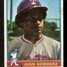 TEXAS RANGERS JUAN BENIQUEZ 1976 TOPPS # 496 good