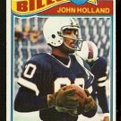BUFFALO BILLS JOHN HOLLAND 1977 TOPPS # 17 VG/EX