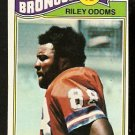 DENVER BRONCOS RILEY ODOMS 1977 TOPPS # 35 VG