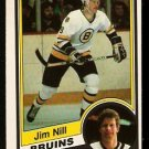 BOSTON BRUINS JIM NILL 1984 OPC O PEE CHEE # 11