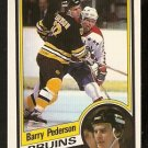BOSTON BRUINS BARRY PEDERSON 1984 OPC O PEE CHEE # 14