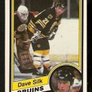 BOSTON BRUINS DAVE SILK 1984 OPC O PEE CHEE # 16
