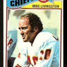 KANSAS CITY CHIEFS MIKE LIVINGSTON 1977 TOPPS # 58 VG