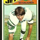 NEW YORK JETS ED GALIGHER 1977 TOPPS # 63 VG+/EX