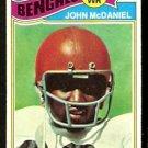 CINCINNATI BENGALS JOHN McDANIEL 1977 TOPPS # 89 EX