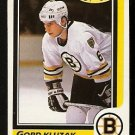 BOSTON BRUINS GORD KLUZAK 1986 O PEE CHEE OPC # 54 NR MT