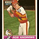 HOUSTON ASTROS ROB ANDREWS 1976 TOPPS # 568 EM/NM