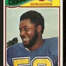 SAN DIEGO CHARGERS DON GOODE ROOKIE CARD RC 1977 TOPPS # 97 EM/NM