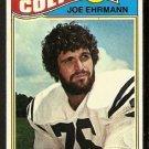 BALTIMORE COLTS JOE EHRMANN ROOKIE CARD RC 1977 TOPPS # 111 VG