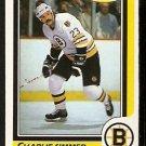 BOSTON BRUINS CHARLIE SIMMER 1986 O PEE CHEE OPC # 145 EX/EM
