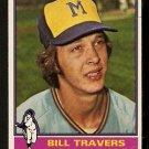 MILWAUKEE BREWERS BILL TRAVERS 1976 TOPPS # 573 VG