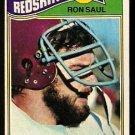 WASHINGTON REDSKINS RON SAUL 1977 TOPPS # 131 EX