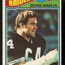 OAKLAND RAIDERS GEORGE BUEHLER 1977 TOPPS # 137 VG/EX
