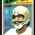 SAN FRANCISCO FORTY NINERS GENE WASHINGTON 1977 TOPPS # 156 VG