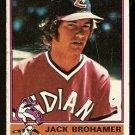 CLEVELAND INDIANS JACK BROHAMER 1976 TOPPS # 618 good