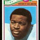 Tampa Bay Buccaneers Bucs Dewey Selmon RC Rookie Card 1977 Topps Football Card # 178 vg