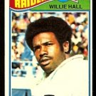 OAKLAND RAIDERS WILLIE HALL 1977 TOPPS # 198 EX/EM