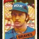 ATLANTA BRAVES  BILL NAHORODNY 1980 O PEE CHEE OPC # 286