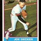 MINNESOTA TWINS JOE DECKER 1976 TOPPS # 636 EX/EM