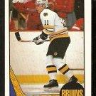 BOSTON BRUINS STEVE KASPER 1987 TOPPS # 162 NR MT