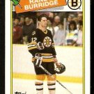 BOSTON BRUINS RANDY BURRIDGE 1988 TOPPS # 33