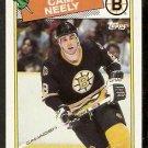 BOSTON BRUINS CAM NEELY 1988 TOPPS # 58
