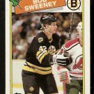 BOSTON BRUINS BOB SWEENEY ROOKIE CARD RC 1988 TOPPS # 134