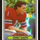 NEW ENGLAND PATRIOTS JOHN SMITH 1980 TOPPS # 291 NR MT