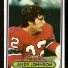NEW ENGLAND PATRIOTS ANDY JOHNSON 1980 TOPPS # 372 NR MT