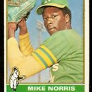 OAKLAND ATHLETICS MIKE NORRIS ROOKIE CARD RC 1976 TOPPS # 653 good