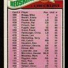 WASHINGTON REDSKINS TEAM CHECKLIST 1977 TOPPS # 228 1 box marked