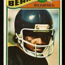 CHICAGO BEARS BO RATHER 1977 TOPPS # 239 VG