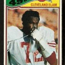 SAN FRANCISCO FORTY NINERS CLEVELAND ELAM 1977 TOPPS # 247 VG/EX