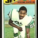 NEW YORK JETS JEROME BARKUM 1977 TOPPS # 254 VG