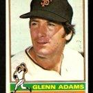 SAN FRANCISCO GIANTS GLENN ADAMS 1976 TOPPS # 389 EX/EM