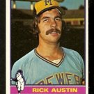 MILWAUKEE BREWERS RICK AUSTIN 1976 TOPPS # 269 EX/EM