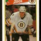 BOSTON BRUINS BOB JOYCE ROOKIE CARD RC 1988 OPC O PEE CHEE # 2 NR MT