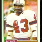 NEW ENGLAND PATRIOTS VAGAS FERGUSON ROOKIE CARD RC 1981 TOPPS # 208  NR MT