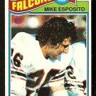 ATLANTA FALCONS MIKE ESPOSITO ROOKIE CARD RC 1977 TOPPS # 294 VG