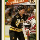 BOSTON BRUINS BOB SWEENEY 1988 OPC O PEE CHEE # 134