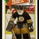 BOSTON BRUINS REJEAN LEMELIN 1988 OPC O PEE CHEE # 186