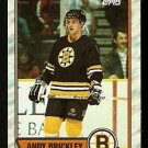 BOSTON BRUINS ANDY BRICKLEY ROOKIE CARD RC 1989 TOPPS # 29