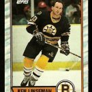 BOSTON BRUINS KEN LINSEMAN 1989 TOPPS # 62