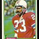 NEW ENGLAND PATRIOTS HORACE IVORY 1981 TOPPS # 372