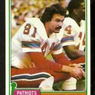 NEW ENGLAND PATRIOTS RUSS FRANCIS 1981 TOPPS # 515
