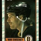 BOSTON BRUINS BOB SWEENEY 1989 TOPPS # 135