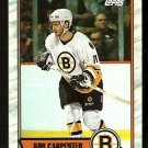 BOSTON BRUINS BOB CARPENTER 1989 TOPPS # 167